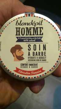 Blondépil - Homme soin à barbe hydrate et adoucit
