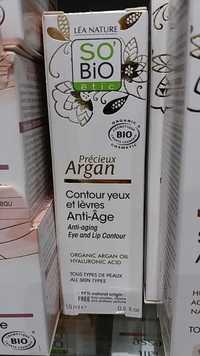 So'Bio étic - Précieux argan contour yeux et lèvres anti-âge