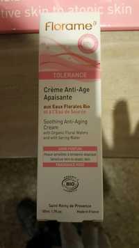 FLORAME - Tolérance - Crème anti-âge apaisante