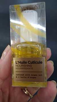 L'Oréal - L'huile cuticule nourrissante à l'huile d'argan