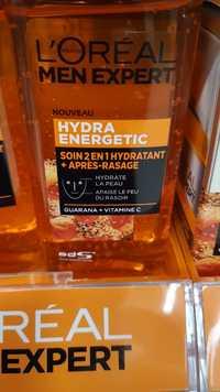 L'ORÉAL PARIS - Men expert Hydra energetic - Soin 2 en 1 hydratant + après-rasage
