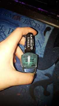 MISS EUROPE PARIS - C'est tout moi ! - Vernis à ongles - Couleur intense - Glitter n° 2 or bleu