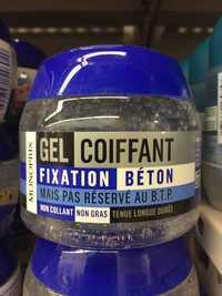 Monoprix - Gel coiffant fixation béton