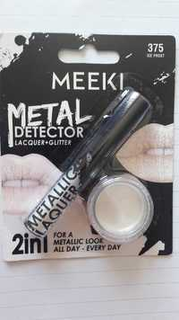 MEEKI - Metal detector 2 in 1 - Lacquer + Glitter 375 Ice Frost