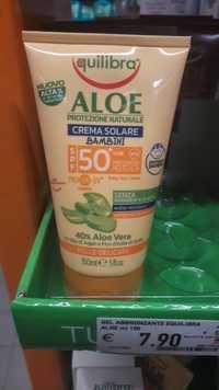 Equilibra - Aloe protezione naturale - Crema solare bambini sfp 50+