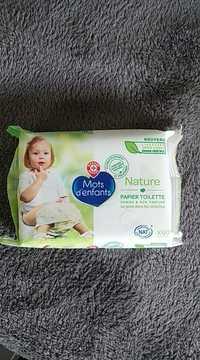 MARQUE REPÈRE - Mots d'enfants nature - Papier toilette humide & non parfumé