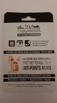 Hayaseï - Anti-points noirs - Patchs au charbon effet nettoyage doux