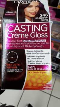 L'Oréal - Casting crème gloss - Couleur soin 2.46 henné brun cuivré