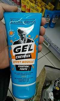 EVOLUDERM - Gel cheveux effet mouillé fixation forte