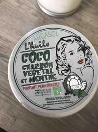 ARGASOL - L'huile coco charbon végétal et menthe