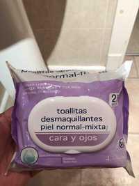 Deliplus - 25 Toallitas desmaquillantes piel normal-mixta