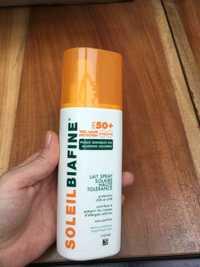 SoleilBiafine - Lait spray solaire haute tolérence fps 50+
