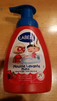 LABELL - Mousse lavante mains au parfum de fruits rouges