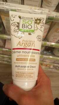 So'Bio étic - Précieux Argan - Crème nourrissante universelle