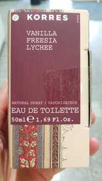 KORRES - Vanilla freesia lychee - Eau de toilette