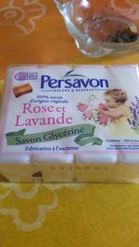 PERSAVON - Rose et Lavande - Savon glycériné