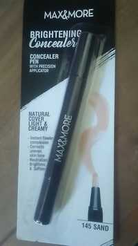MAX & MORE - Brightening concealer - Concealer pen 145 sand