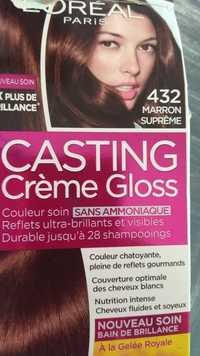 L'Oréal - Casting - Crème gloss 432 marron suprême