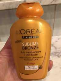 L'Oréal - Plénitude - Sublime bronze