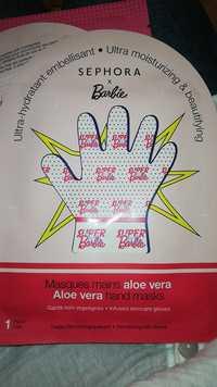 Sephora - Barbie - Masques mains aloe vera - Ultra-hydratant embellisant