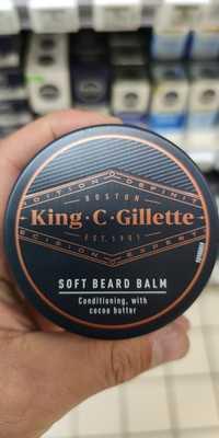 KING C GILLETTE - Soft beard balm