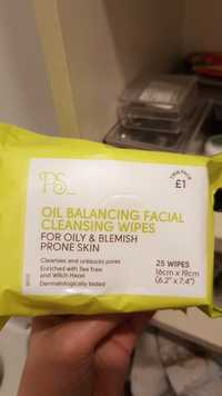 Primark - PS - Oil balancing facial cleansing wipes