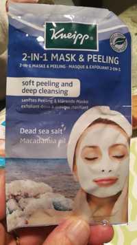 Kneipp - 2-in-1 mask & peeling dead sea salt macadamia oil