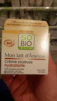 So'Bio étic - Mon lait d'ânesse - Crème soyeuse hydratante bio