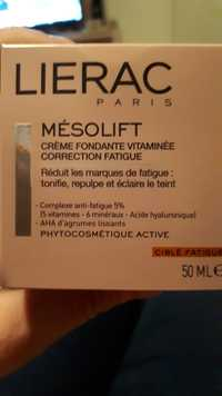 Liérac - Mésolift - Crème fondante vitaminée correcteur fatigue