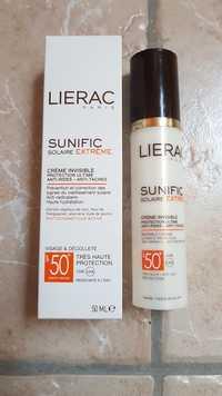 Liérac - Sunific Solaire Extrême - Crème invisible visage et décolleté SPF 50+