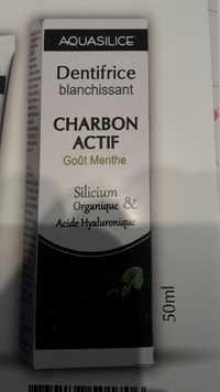 AQUASILICE - Charbon actif - Dentifrice blanchissant goût menthe