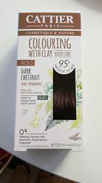 Cattier - Colouring with clay n°3.0 dark chestnut