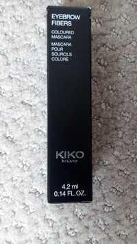 KIKO - Eyebrow fibers - Mascara pour sourcils coloré
