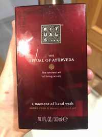 Rituals - The ritual of yaurveda - A moment of hand wash