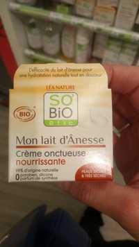 So'Bio étic - Mon lait d'ânesse - Crème onctueuse nourrissante bio