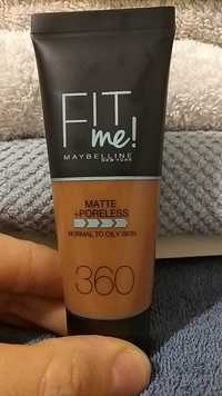 MAYBELLINE - Fit me ! Matte + Poreless - Normal to oily skin 360