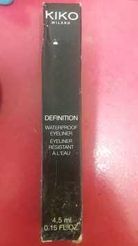 KIKO - Definition - Eyeliner résistant à l'eau