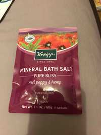 KNEIPP - Pure bliss - Mineral bath salt