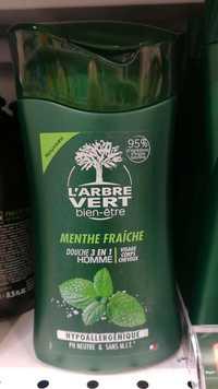 L'Arbre vert - Menthe fraîche - Douche 3 en 1 homme