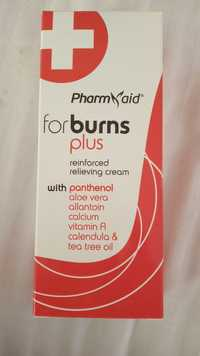PHARM AID - For burns plus - Reinforced relieving cream