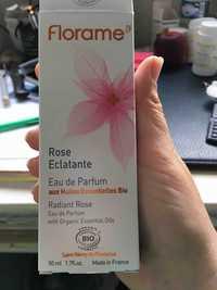 FLORAME - Rose éclatante - Eau de Parfum aux huiles essentielles bio