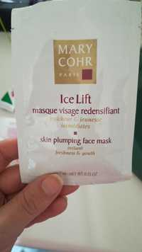 MARY COHR - Ice Lift - Masque visage redensifiant
