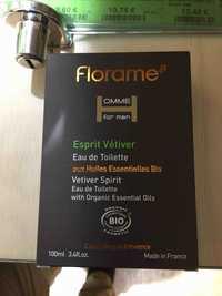 FLORAME - Esprit vétiver - Eau de toilette