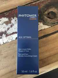 PHYTOMER - Age optimal homme - Soin lissant rides visage et yeux