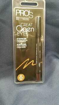 LES COSMÉTIQUES DESIGN PARIS - Pro's Great open eyes - Crayon khôl 02 marron mat