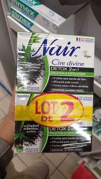 Nair - Cire divine détox 2 en 1 épilation & exfoliation