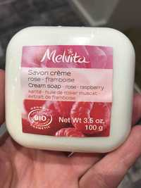 Melvita - Savon crème - Rose framboise