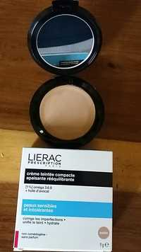 Liérac - Crème teintée compacte apaisante rééquilibrante