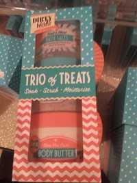 Dirty Works - Trio of treats soak scrub and moisturise