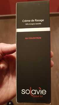 SOLAVIE - Pour Lui - Crème de rasage au Colostrum